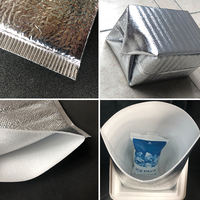 Insulation bag aluminum foil thickening disposable large takeaway fast food insulation bag cold ice bag lunch box food insulation bag