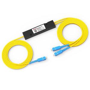 诺可信分光器1分2光纤分路器SC一分二尾纤式1比2电信级1:2包邮