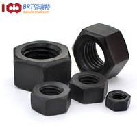 Class 8.8 12.9 <High Strength> Hex Nut Screw Cap Black M2M2.5M3M4M5-M30
