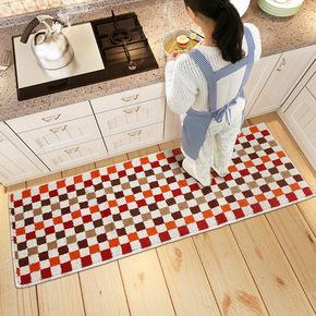 美式欧式简约北欧格子厨房长条吸水玄关卫浴室阳台客脚垫地垫地毯