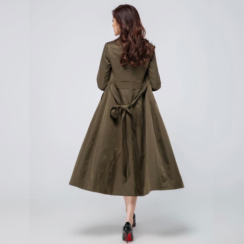 2018 spring new long windbreaker ladies jacket Korean slim Slim