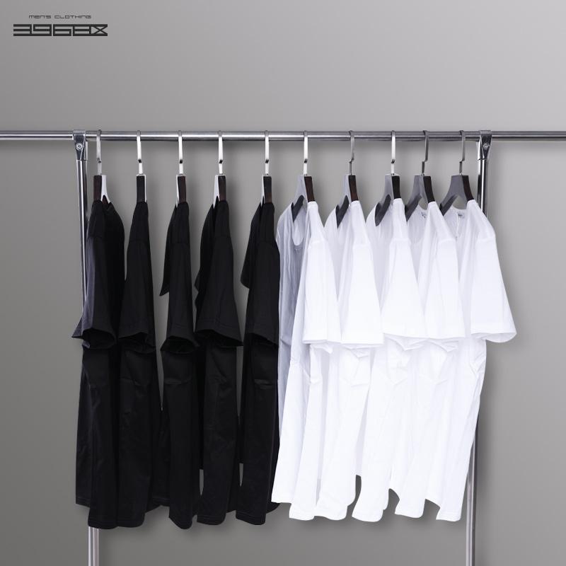 男士纯白圆领t恤