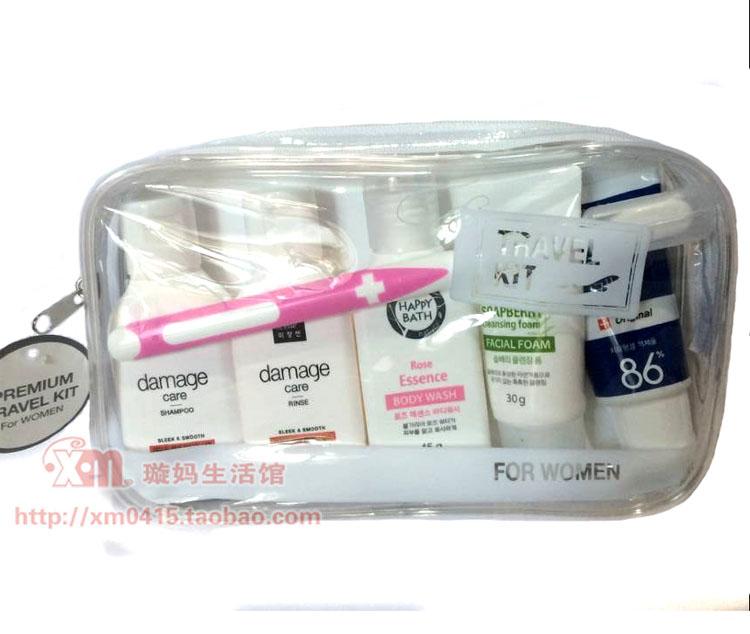 韩国Amore爱茉莉男女洗发水沐浴露牙刷牙膏洗面奶旅行套装6件旅游