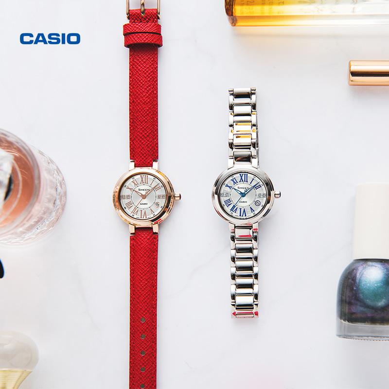 casio旗舰店SHE-4629防水女士指针手表卡西欧官网SHEEN官方正品