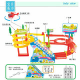 Yu's interest taste duck track duck track toy car slide electric duckling climb stairs track toy