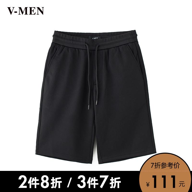VMEN威曼潮流针织短裤男韩版青年休闲五分裤中裤722139311