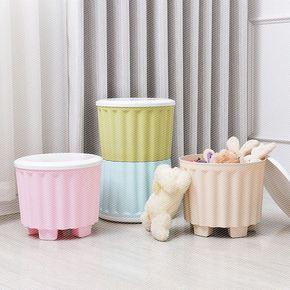 创意塑料圆形小矮儿童储物凳换鞋凳玩具收纳凳可坐人储物凳子组合