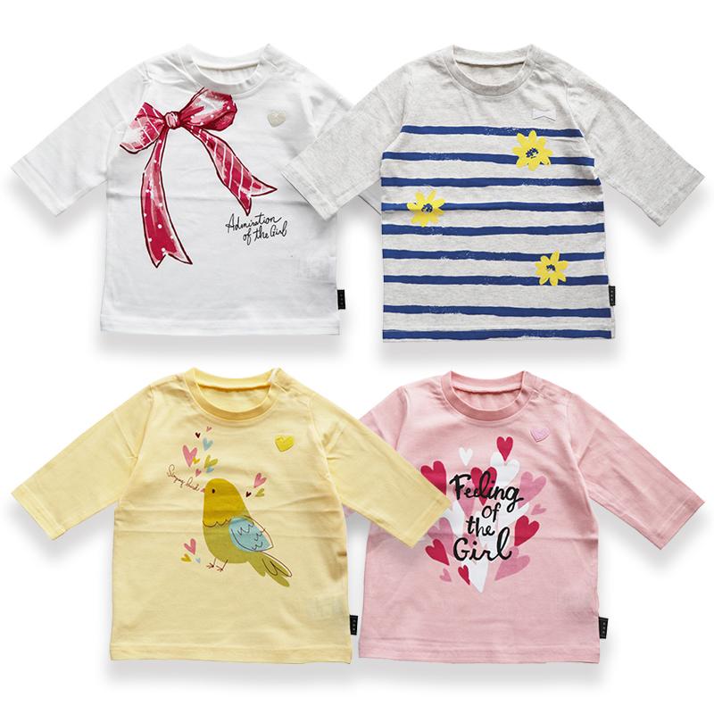 千趣会 T恤 保证正品 七分袖 纯棉卡通上衣 儿童