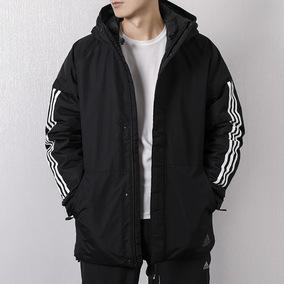 Adidas阿迪达斯外套男2018冬季新款中长款棉衣运动休闲棉服CY8624