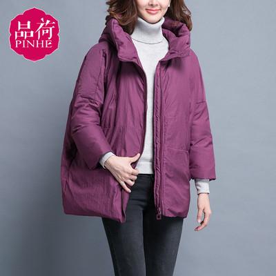 紫色棉衣女短款冬季2018新款韩版宽松反季棉服时尚棉袄面包服袄子
