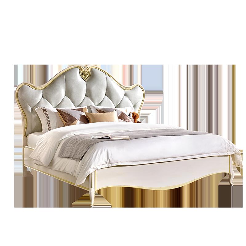 卫诗理家具法式轻奢真皮实木床