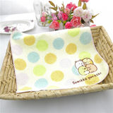 Exported to Japan Pure cotton yarnless embroidery Corner creature Soft water absorption 25*25 small square handkerchief