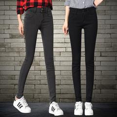 牛仔褲女韓版潮黑