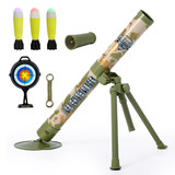 Kids hit toy gun rocket son military eat chicken sound light model Jedi chase howitzer shoots boys