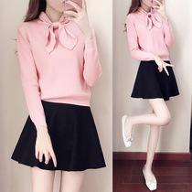 冬天可爱毛衣裙子两件套裙时髦套装女秋冬韩版学生甜美少女淑女潮
