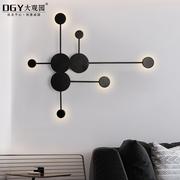 北欧后现代极简艺术设计师客厅装饰壁灯创意简约个性卧室床头灯具