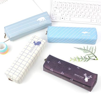 笔袋韩国 简约女生 小清新 可爱大容量男儿童小学生文具袋铅笔盒