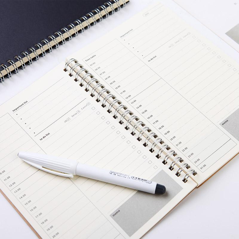 100日计划本一日一页时间轴2018年日程本计划表学生时间管理本子