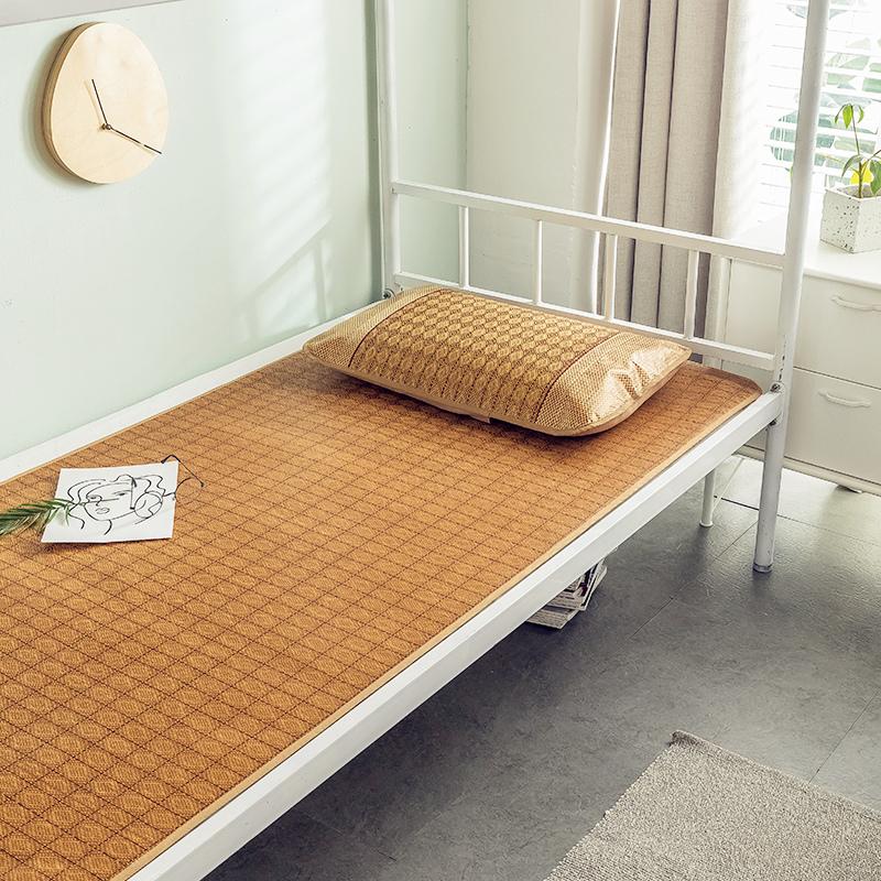 学生凉席0.9m单人床宿舍冰丝藤席子1.5折叠1米夏季1.8x2竹草席1.2