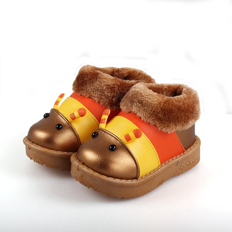 卡通毛毛虫雪地靴