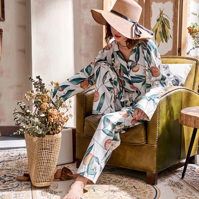 2018新款睡衣女秋纯棉长袖可外穿宽松日系田园风印花秋款两件套