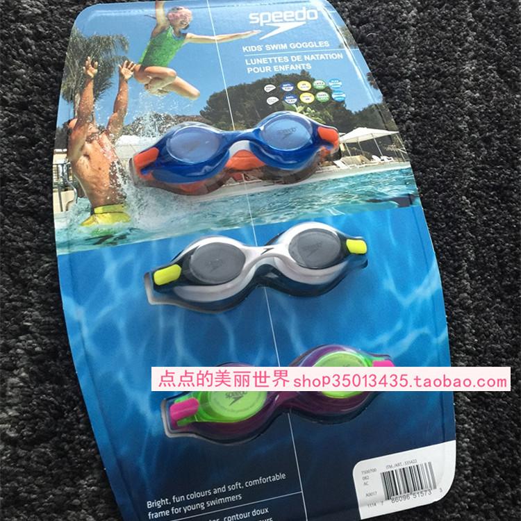 正品现货speedo专业防紫外线防雾泳镜 单个 儿童成人加拿大专柜