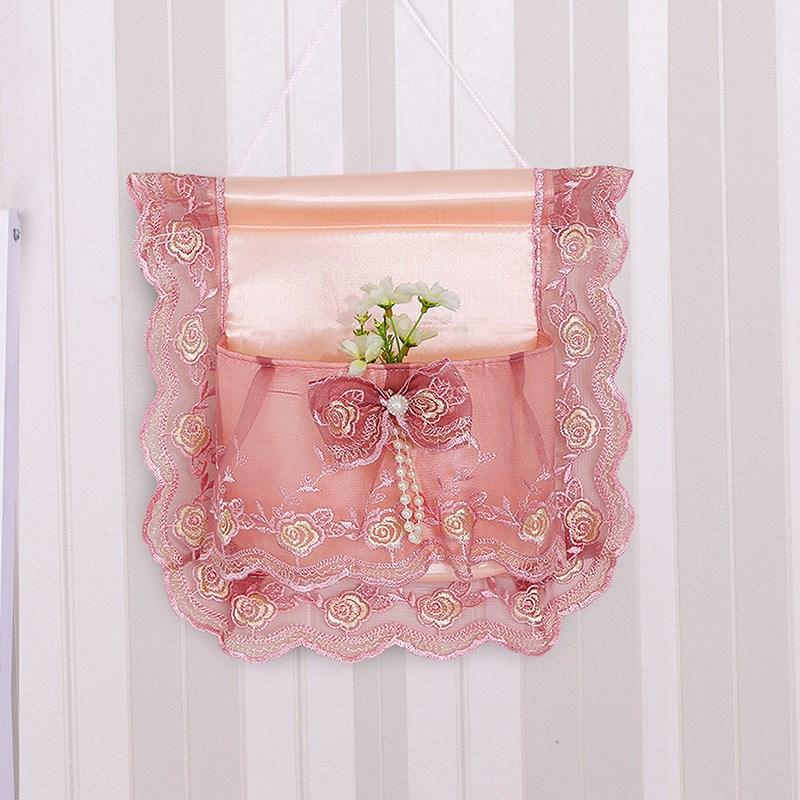 温恋 蕾丝挂袋收纳袋墙挂式门后衣橱挂袋三兜四兜布艺储物整理袋