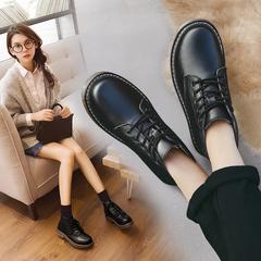 平底真皮女靴冬