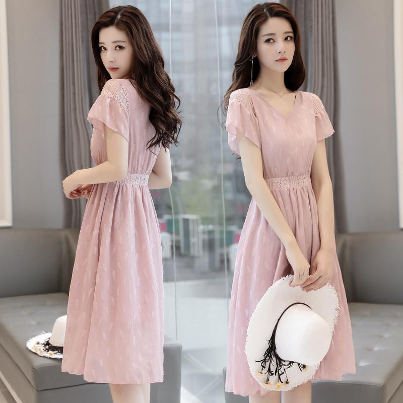 夏季粉色仙女裙