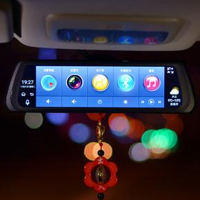 全屏流媒體智能云后視鏡聲控導航行車記錄儀電子狗ADAS4G全網通