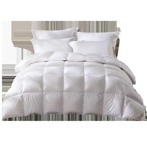 罗莱家纺羽绒被冬天床上用品100%水洗白鸭绒被子被芯保暖