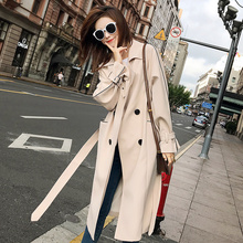 Kitchen Windswear Mid-long Korean Spring 2018 New Knee Popular Windswear Coat Autumn Student Coat