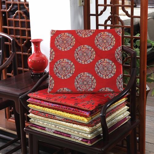 红木沙发坐垫椅垫座垫新中式椅子垫子餐椅实木圈椅太师椅加厚防滑