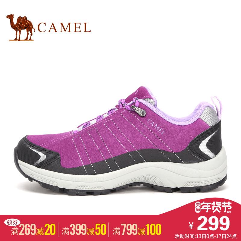 CAMEL骆驼女鞋 户外徒步女鞋 系带休闲女鞋