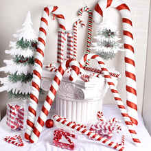 Christmas Red and White Crutches 15-90CM Painted Christmas Crutches Dance Studio Christmas Decoration Projects