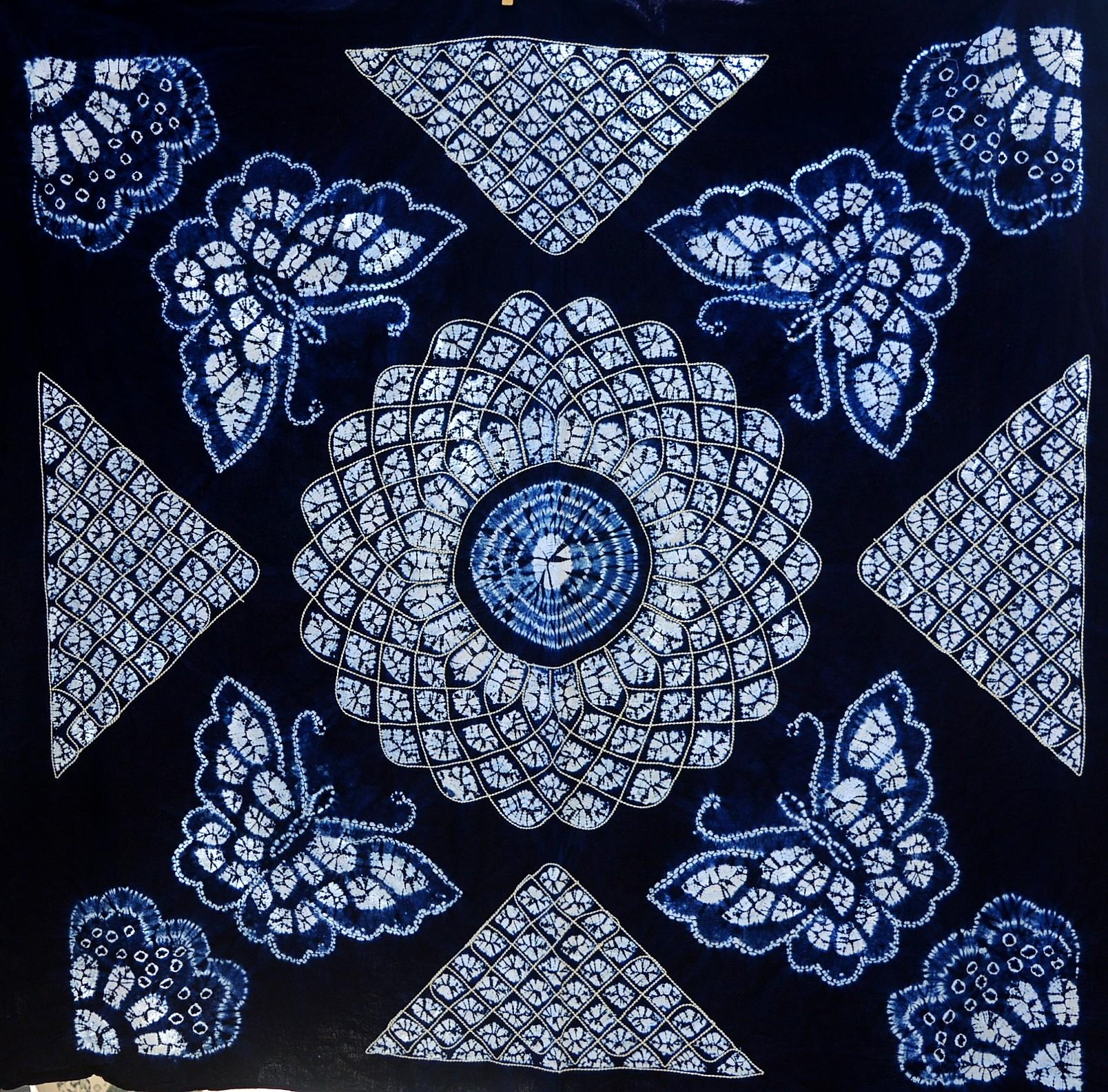云南大理白族手工扎染桌布壁挂民族风礼物装饰1.5m*1.5m多种图案