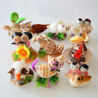 Zodiac shell crafts natural conch animals children's small gifts night market supply stalls hot sale ornaments