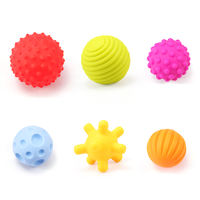 Baby Toys Hand Balls Manhattan Tactile Sensing Baby 6-12 Months Puzzle Soft Glue Massage Ball