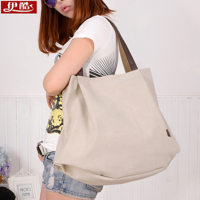 帆布包女包2018新款韩版手提包单肩包休闲包简约百搭女士包大包包