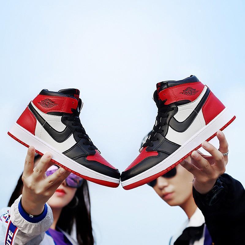 轩尧耐克泰男鞋1代篮球鞋AJ1黑红脚趾芝加哥高帮联名女鞋鸳鸯