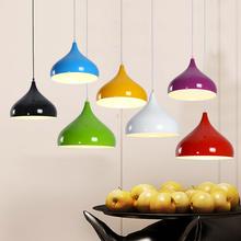 现代简约彩色创意个性餐厅吊灯单头酒吧台咖啡厅奶茶店理发店灯罩