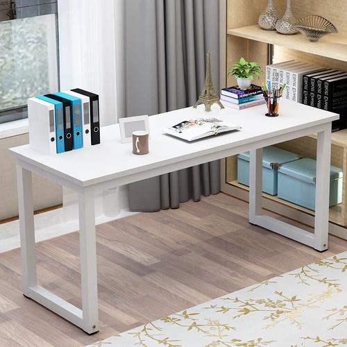 简易电脑桌台式加长钢木书桌简约办公 写字台1.2米1.4米2米长条桌