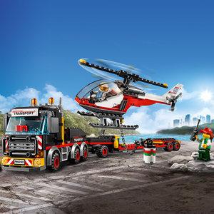 乐高城市组 60183 重型直升机运输车 LEGO 儿童男孩积木玩具