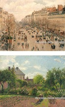 毕沙罗 巴黎蒙马特大道 艺术家的花园 高清印制布画芯 油画装饰画