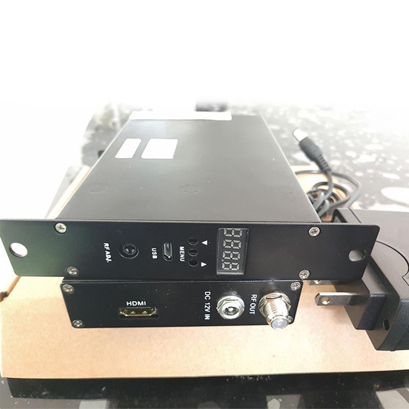 热销单路捷变调制器编码一体机HDMI转DTMB高清数字自办节目酒店