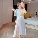 Maternity dress summer skirt pregnant women summer dress fashion models tide mother long skirt 2019 new loose long section