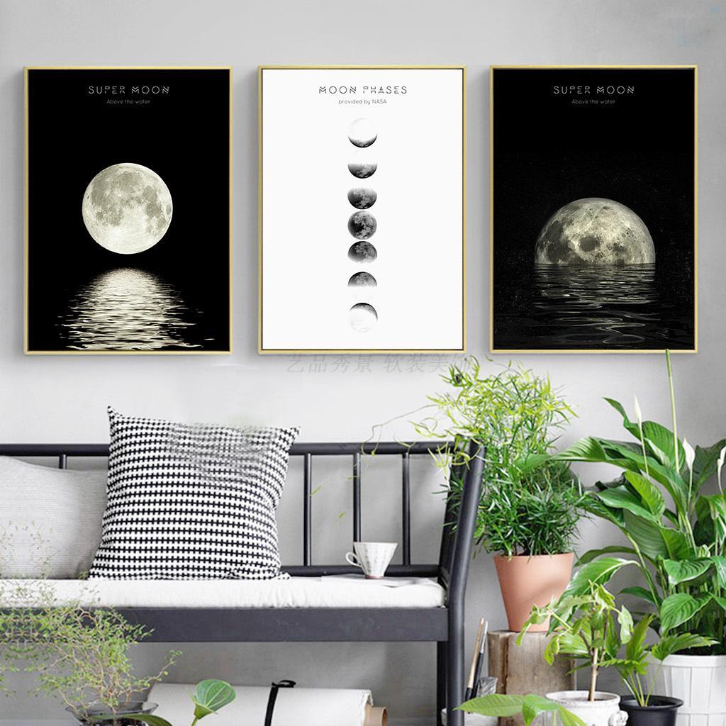 月亮装饰画