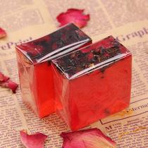 玫瑰花瓣精油手工皂 补水保湿祛黄去黑头嫩白洁面沐浴男女肥皂