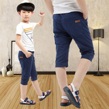 Boys shorts summer children's pants casual pants cotton and linen 2019 summer big boy boy seven pants thin section