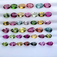 Natural tourmaline bare stone facet fire color round oval drop water horse can make a ring pendant